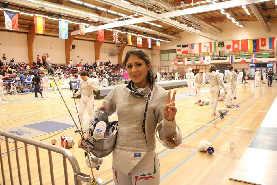 María Paola Pliego Lara esgrimista mexicana que representará a Uzbekistán