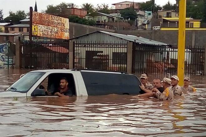 Inundaciones en Sonora