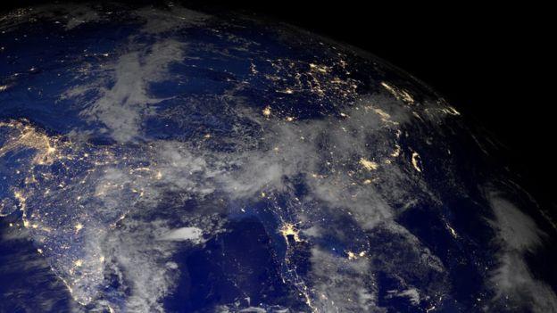 Vista de la tierra desde un satélite
