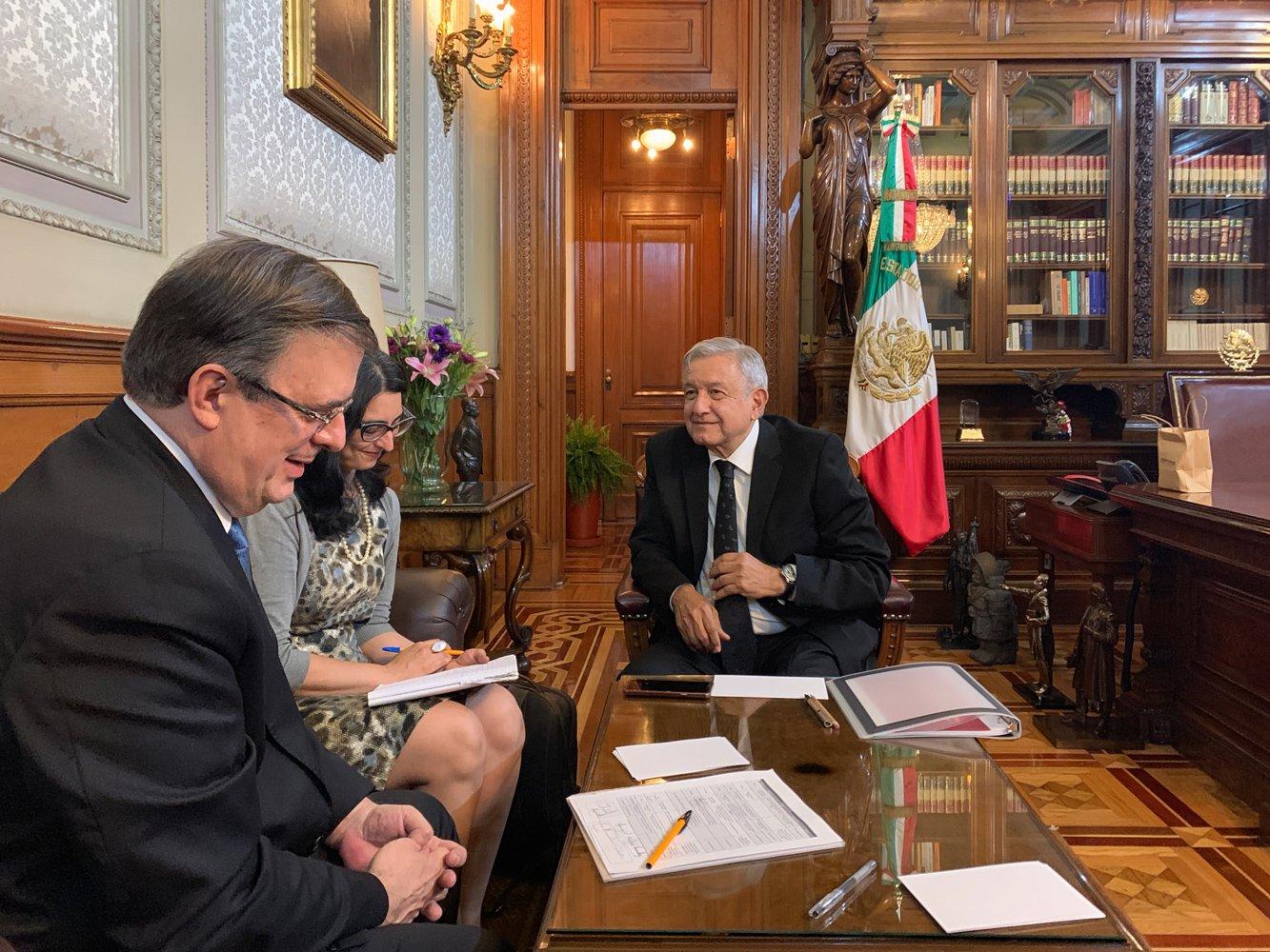 Lopez Obrador y Marcelo Ebrard