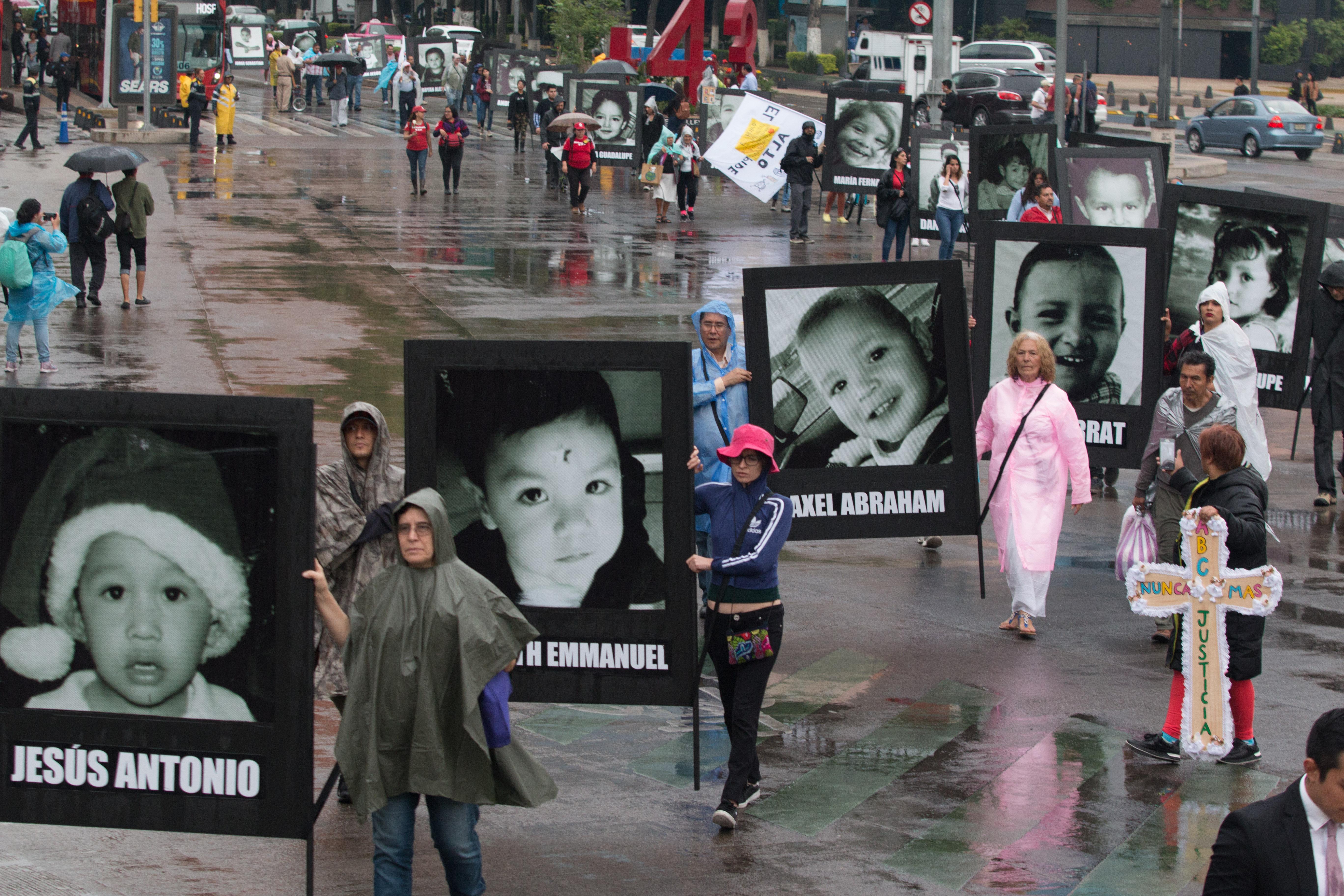 Manifestación por caso de la tragedia de la Guardería ABC