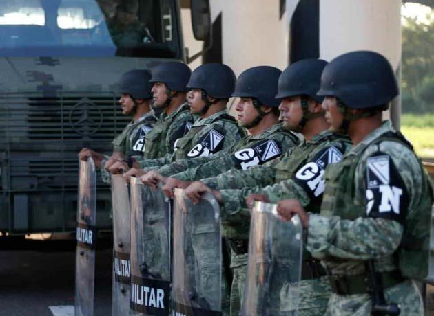 Efectivos de la Guardia Nacional