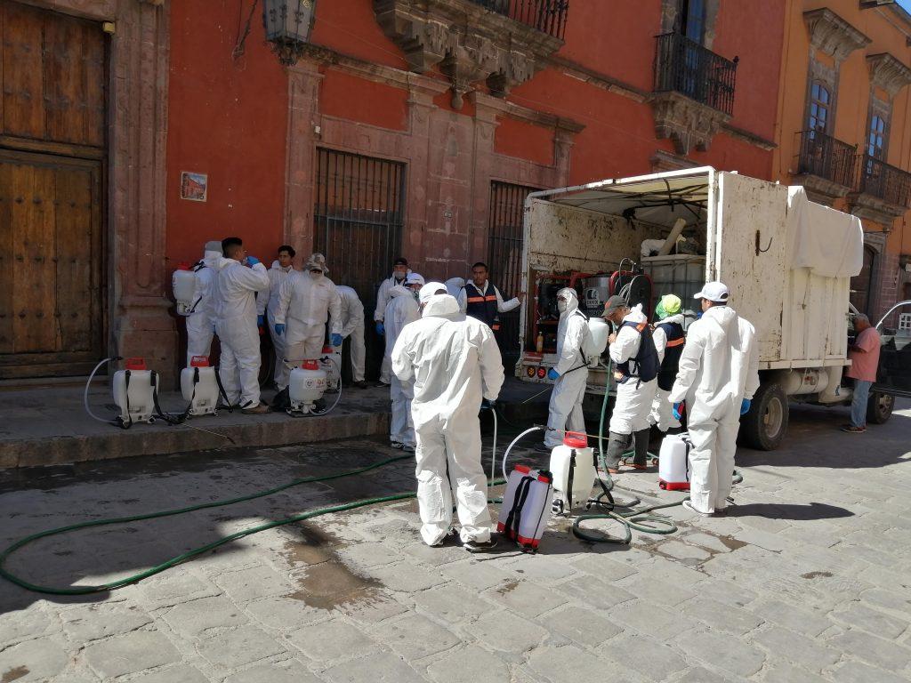 San Miguel cuenta con un ejército de sanitización contra coronavirus