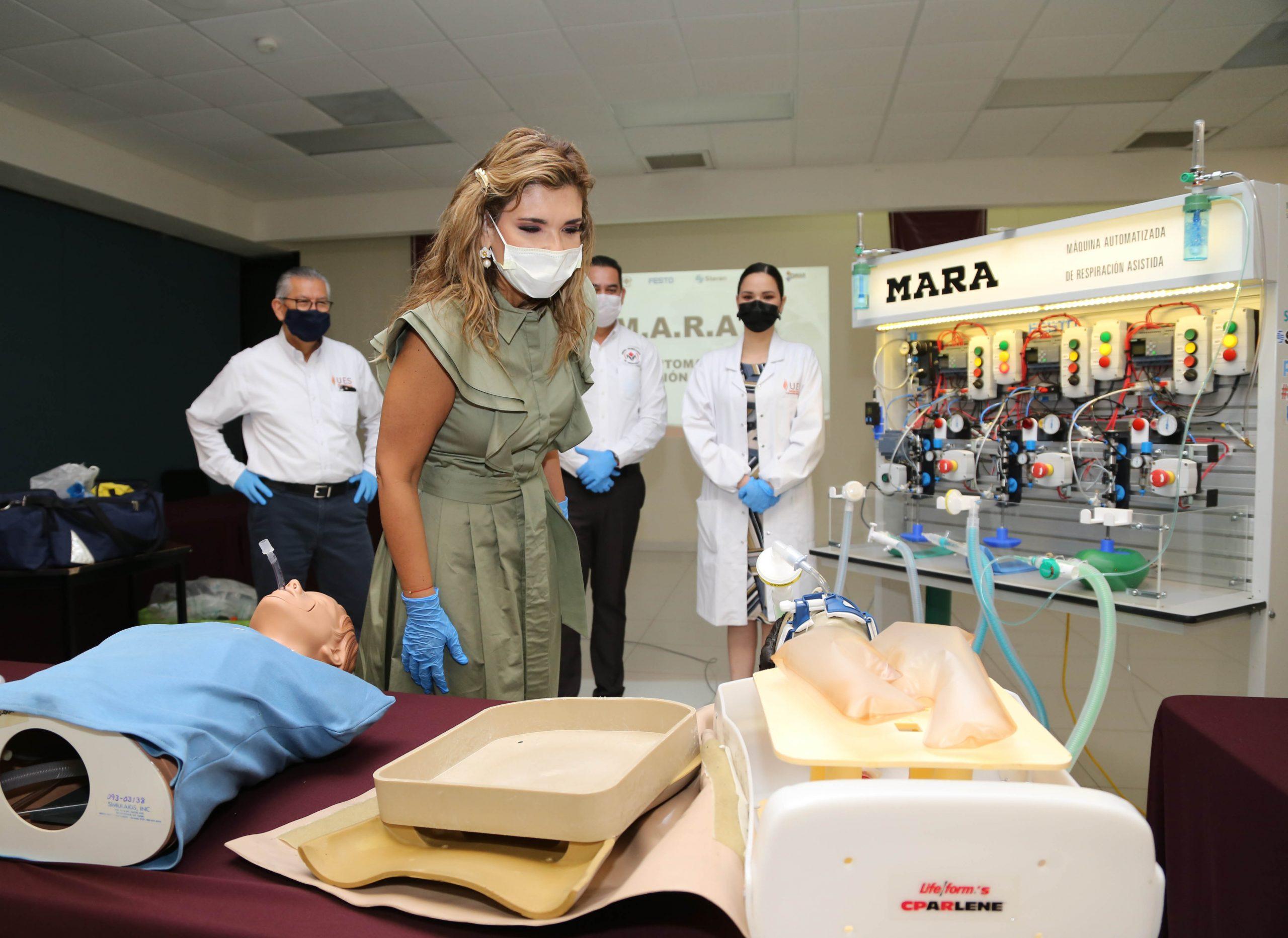 Son héroes los inventores de una máquina que auxilia a seis enfermos con Covid-19: Claudia Pavlovich