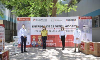 Los ventiladores donados por Grupo México salvarán a pacientes con Covid-19: Claudia Pavlovich
