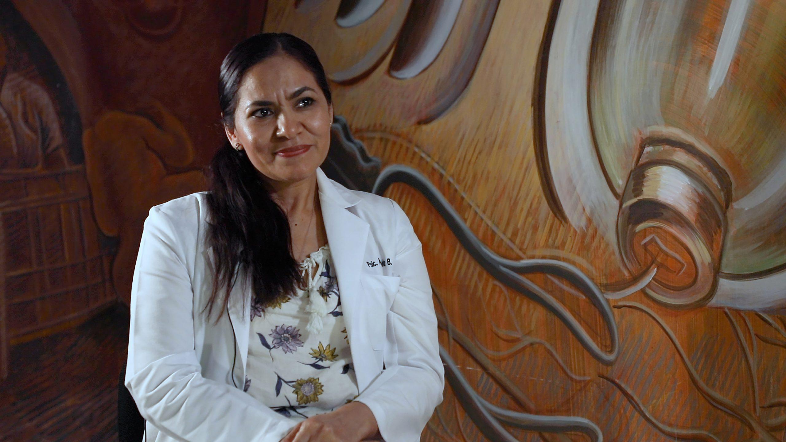 Psicóloga Ana Galaviz, especialista en salud mental