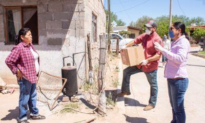 Llegan despensas para que las familias del Río Sonora sorteen el Covid-19