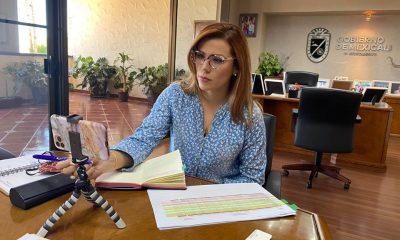 Marina del Pilar Ávila Olmeda, alcaldesa de Mexicali
