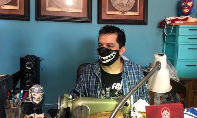 máscaras de lucha libre y cubrebocas