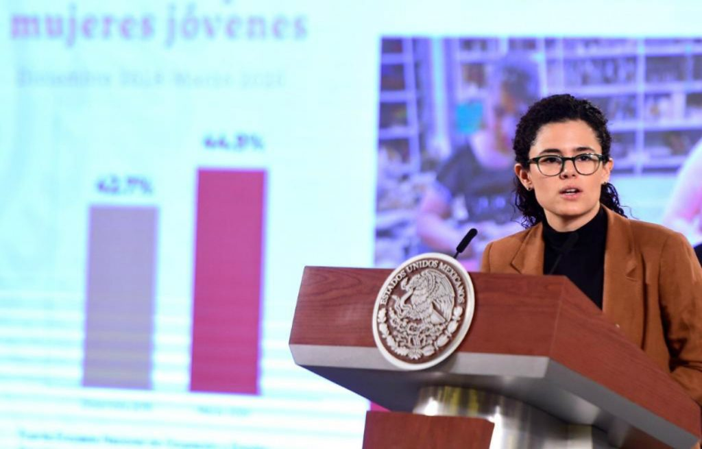 La secretaria de Trabajo y Previsión Social dijo que la gran fuerza laboral del país está confinada debido a la pandemia del coronavirus