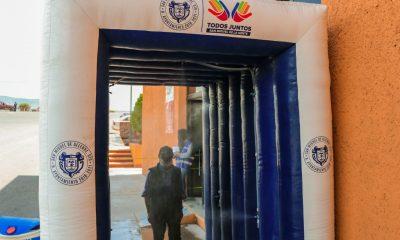 Instalan arcos sanitizantes en San Miguel de Allende