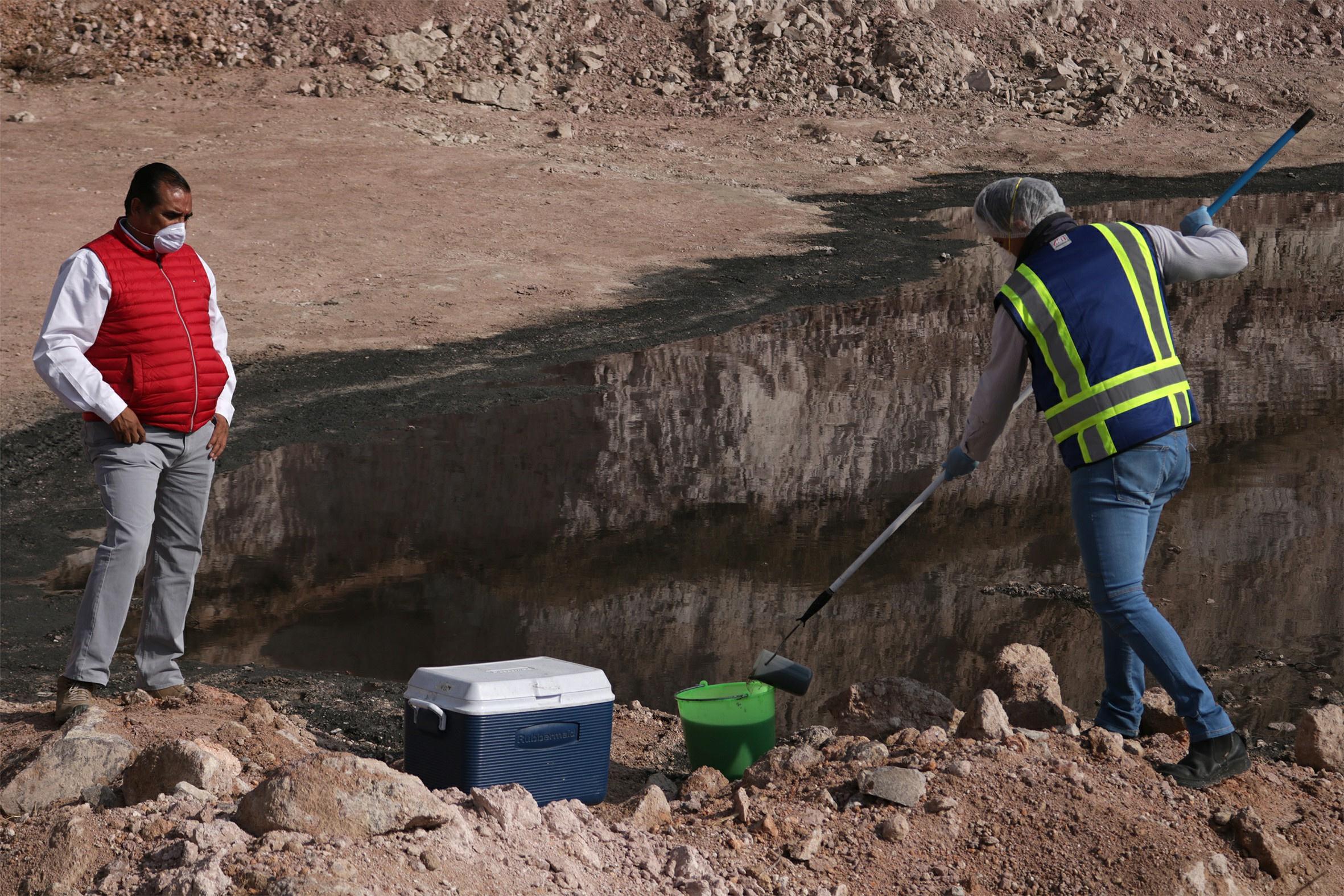 Minera contamina presa de Neutla