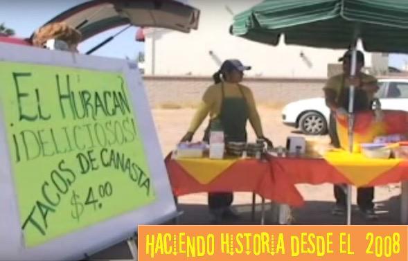 En 2008 Raúl empezó a vender tacos con un par de mesas, una sombrilla y la canasta